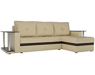 Купить диван Мебелико Атланта М 2 стола эко кожа