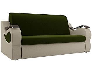 Купить диван Мебелико Меркурий микровельвет зеленый/бежевый