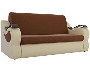 Купить диван Мебелико Меркурий рогожка коричневый/ эко кожа бежевый