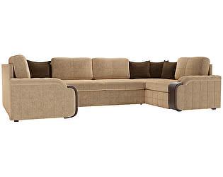 Купить диван Мебелико П-образный Николь микровельвет