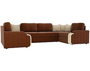 Купить диван Мебелико П-образный Николь рогожка