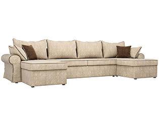 Купить диван Мебелико П-образный Элис велюр