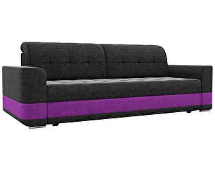 Купить диван Мебелико прямой Честер микровельвет черный/фиолетовая