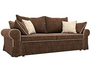 Купить диван Мебелико прямой Элис велюр коричневый