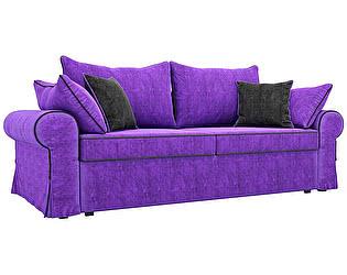 Купить диван Мебелико прямой Элис велюр фиолетовый
