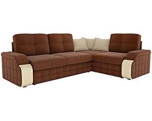 Купить диван Мебелико Николь рогожка коричневый
