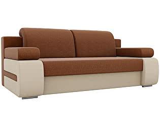 Купить диван Мебелико прямой Денвер рогожка бежевые подлокотники