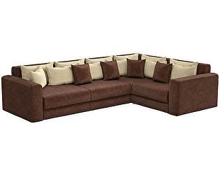 Купить диван Мебелико Мэдисон Long микровельвет бежевый