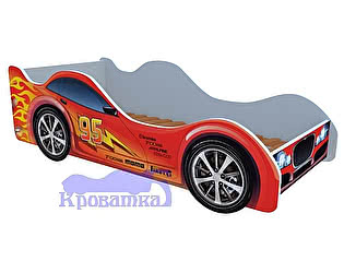 Купить кровать Кроватка5 красная молния машина