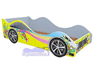Купить кровать Кроватка5 машина желтая радуга