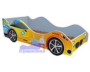 Купить кровать Кроватка5 машина желтая энергия