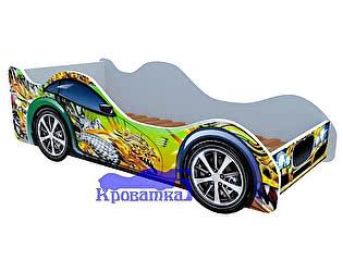 Купить кровать Кроватка5 машина зеленый дракон