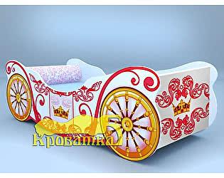 Купить кровать Кроватка5 карета корона белая