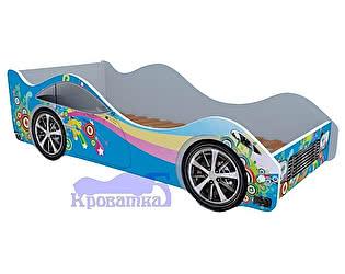 Купить кровать Кроватка5 машина синяя радуга