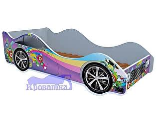 Купить кровать Кроватка5 машина фиолетовая радуга