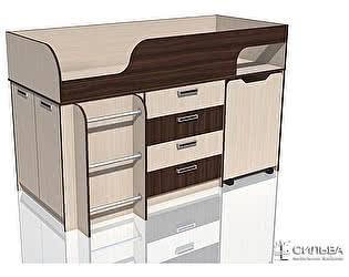 Купить кровать Сильва Рико Дуб Тортона НМ 011.56 с выкатным столом