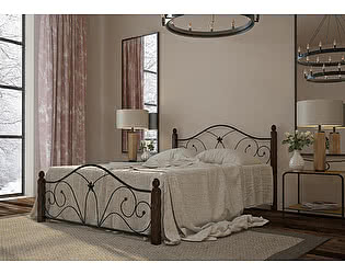 Купить кровать Mebwill Селена 1 Черный - шоколад