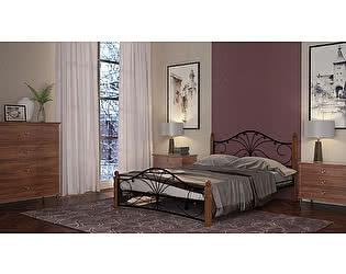 Купить кровать Mebwill Фортуна 1 Черный - махагон