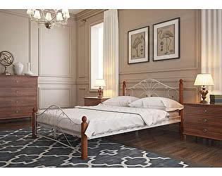 Купить кровать Mebwill Фортуна 1 Белый - махагон