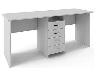 Купить стол МФ Мастер Тандем 2 (белый) письменный