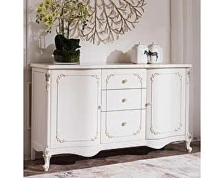 Купить комод МИК Мебель Luisa MK-5091-WG Белый с золотом