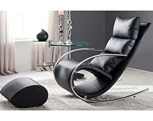 Купить кресло МИК Мебель Кресло-качалка c пуфом S001 MK-5503-BL Черный