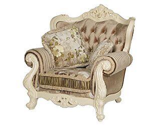 Купить кресло МИК Мебель Милано 8802-А MK-1828-IV Слоновая кость/Кофейный