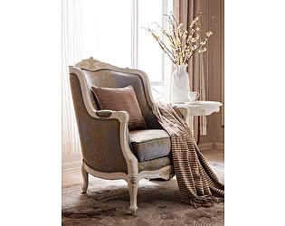 Купить кресло МИК Мебель Shantal MK-5100-WG Белый с золотом/Узор