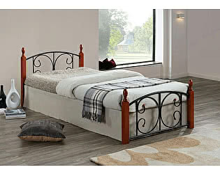 Купить кровать МИК Мебель Lara MK-5221-RO Темная вишня 200х140