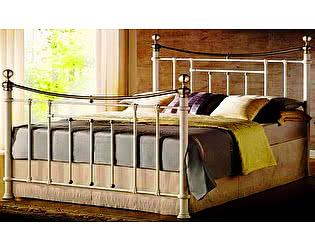 Купить кровать МИК Мебель MK-2230-WB Белый с античной медью 200х160