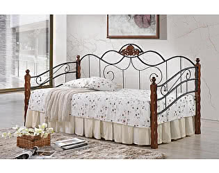 Купить кровать МИК Мебель AT-881 MK-2016-RO Темная вишня 200х90
