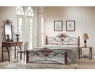 Купить кровать МИК Мебель FD 881 MK-1913-RO Темная вишня 200х120