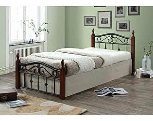 Купить кровать МИК Мебель Mabel MK-5224-RO Темная вишня 200х90