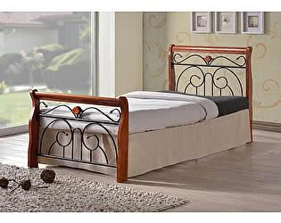 Купить кровать МИК Мебель Tina MK-5227-RO Темная вишня 200х90