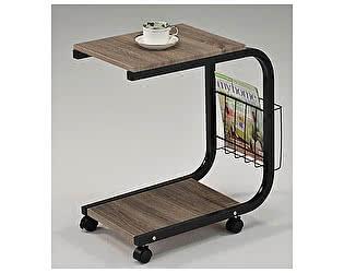Купить стол МИК Мебель Приставной на колесиках MK-2391 Дуб/черный