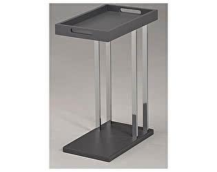 Купить стол МИК Мебель Приставной со съемным подносом MK-2390-GR Серый/хром
