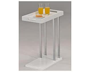 Купить стол МИК Мебель Приставной со съемным подносом MK-2390-WT Белый/хром
