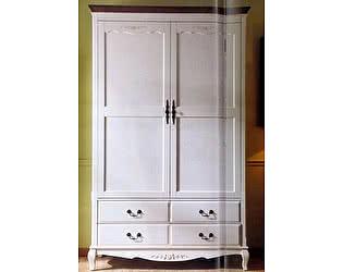 Купить шкаф МИК Мебель 2-х дверный Florence MK-5061-AWB Молочный/Итальянский орех