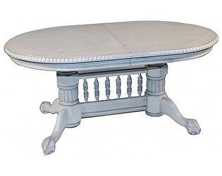 Купить стол МИК Мебель HNDT - 4296 SWC MK-1104-WS Белый антик с серебрянной патиной