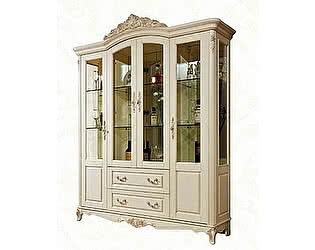 Купить шкаф МИК Мебель Витрина 4-дверная Милано MK-1877-IV Слоновая кость