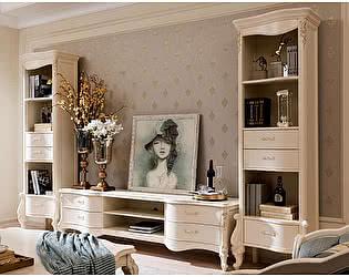 Купить шкаф МИК Мебель Витрина открытая левая Luisa MK-5094-WG Белый с золотом