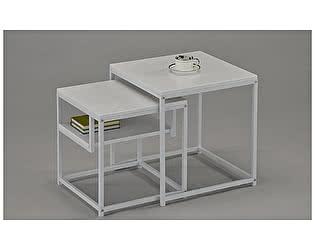 Купить стол МИК Мебель Комплект журнальных столиков MK-6308-WT Белый