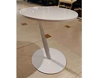 Купить стол МИК Мебель Приставной MK-6328-WT Хром/белый