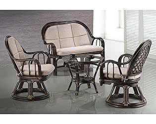Купить комплект садовой мебели МИК Мебель Zinia МК-6113-BR Коричневый