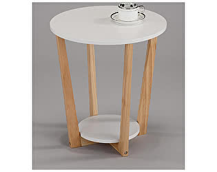 Купить стол МИК Мебель SR-1655 MK-6339-WT Белый/Натуральное дерево