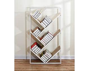 Купить стеллаж МИК Мебель MK-7006-WW Под дерево/Белый
