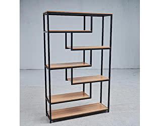 Купить стеллаж МИК Мебель MK-7007-BW Под дерево/Черный