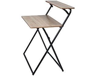 Купить стол МИК Мебель MK-7005-BW Под дерево/Черный