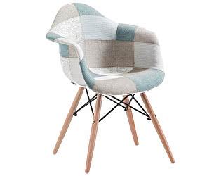 Купить кресло МИК Мебель Mobil MK-4330-BL Пэчворк голубой