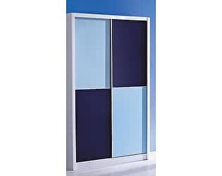 Купить шкаф МИК Мебель купе 2-х дверный Bambino MK-4602-BL Синий-белый